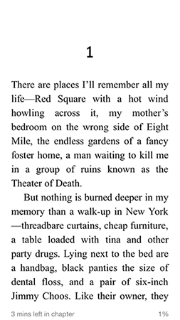 First page of I Am Pilgrim, US edition
