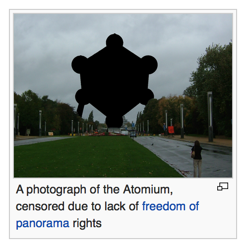The Atomium as it appears on its Wikipedia page